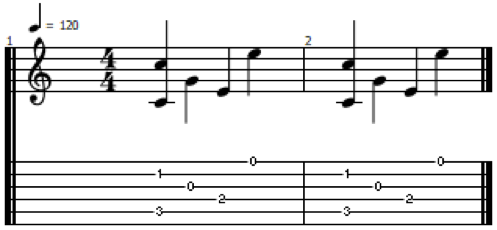C Fingerstyle Exercise